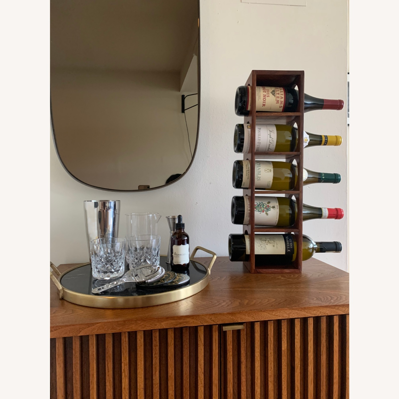 Crate & Barrel wall Mount / Stackable Wine Rack - image-4