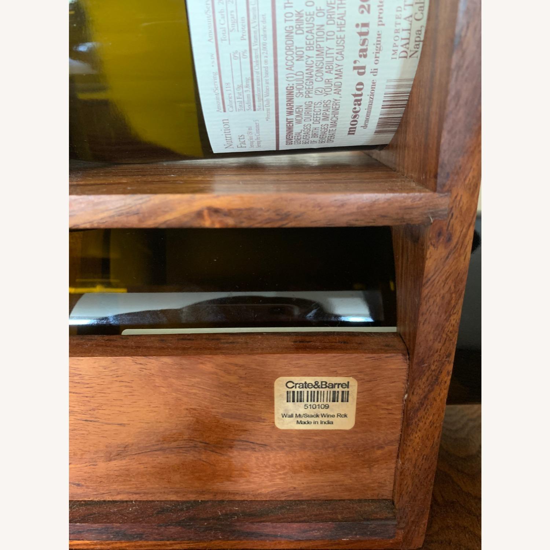 Crate & Barrel wall Mount / Stackable Wine Rack - image-8