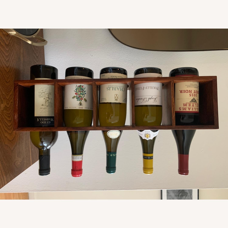 Crate & Barrel wall Mount / Stackable Wine Rack - image-11