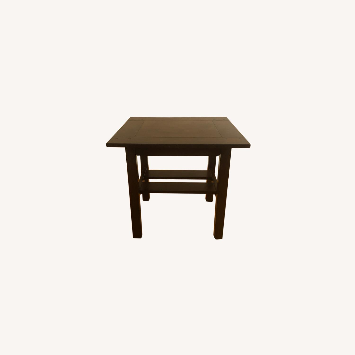 Picture of: Ashley Furniture Espresso Wood Side Tables Aptdeco