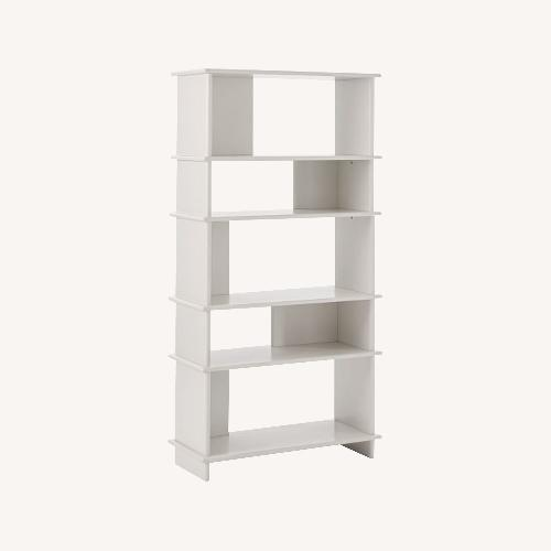 Used West Elm Kaira Wide Bookcase - Oyster for sale on AptDeco