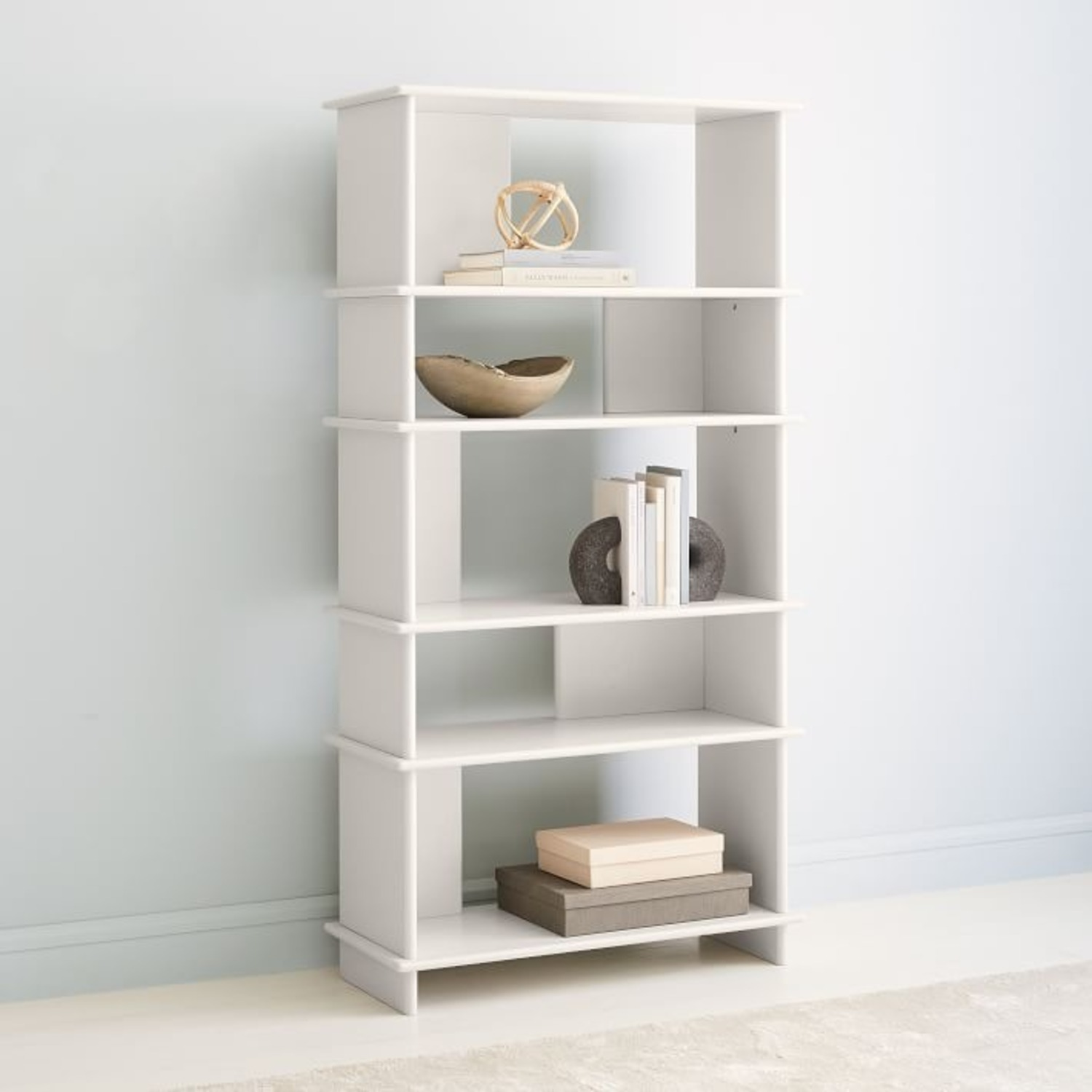 West Elm Kaira Wide Bookcase - Oyster - image-2