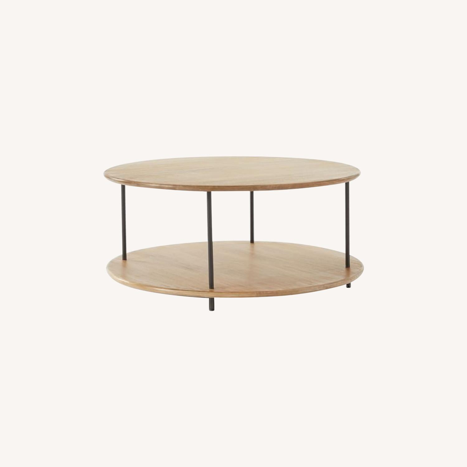 West Elm Tiered Wood Coffee Table - image-0