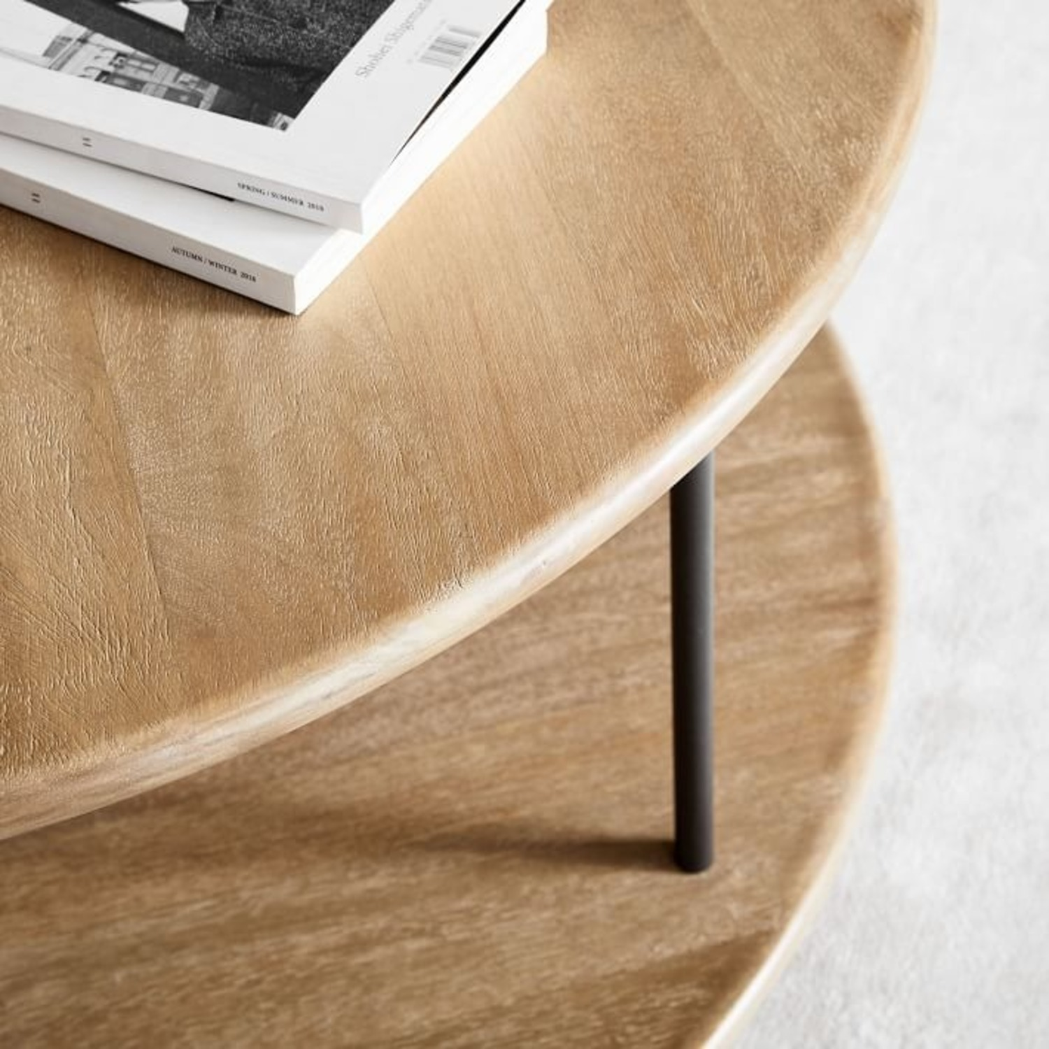 West Elm Tiered Wood Coffee Table - image-3