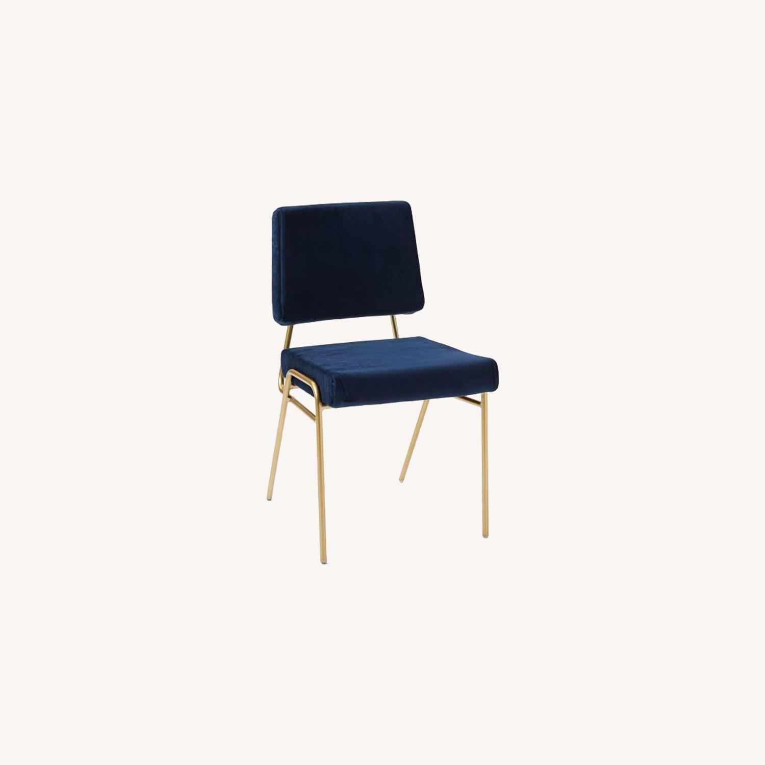 West Elm Wire Frame Upholstered Dining Chair - image-0
