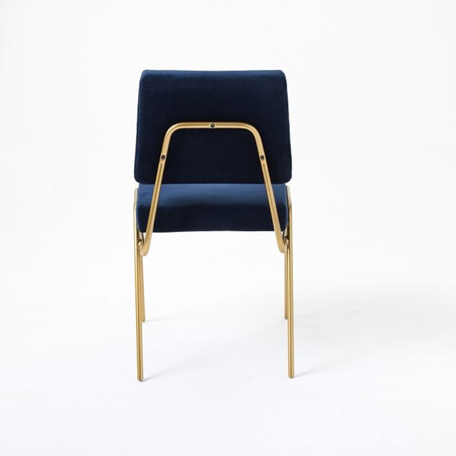 West Elm Wire Frame Upholstered Dining Chair - image-2