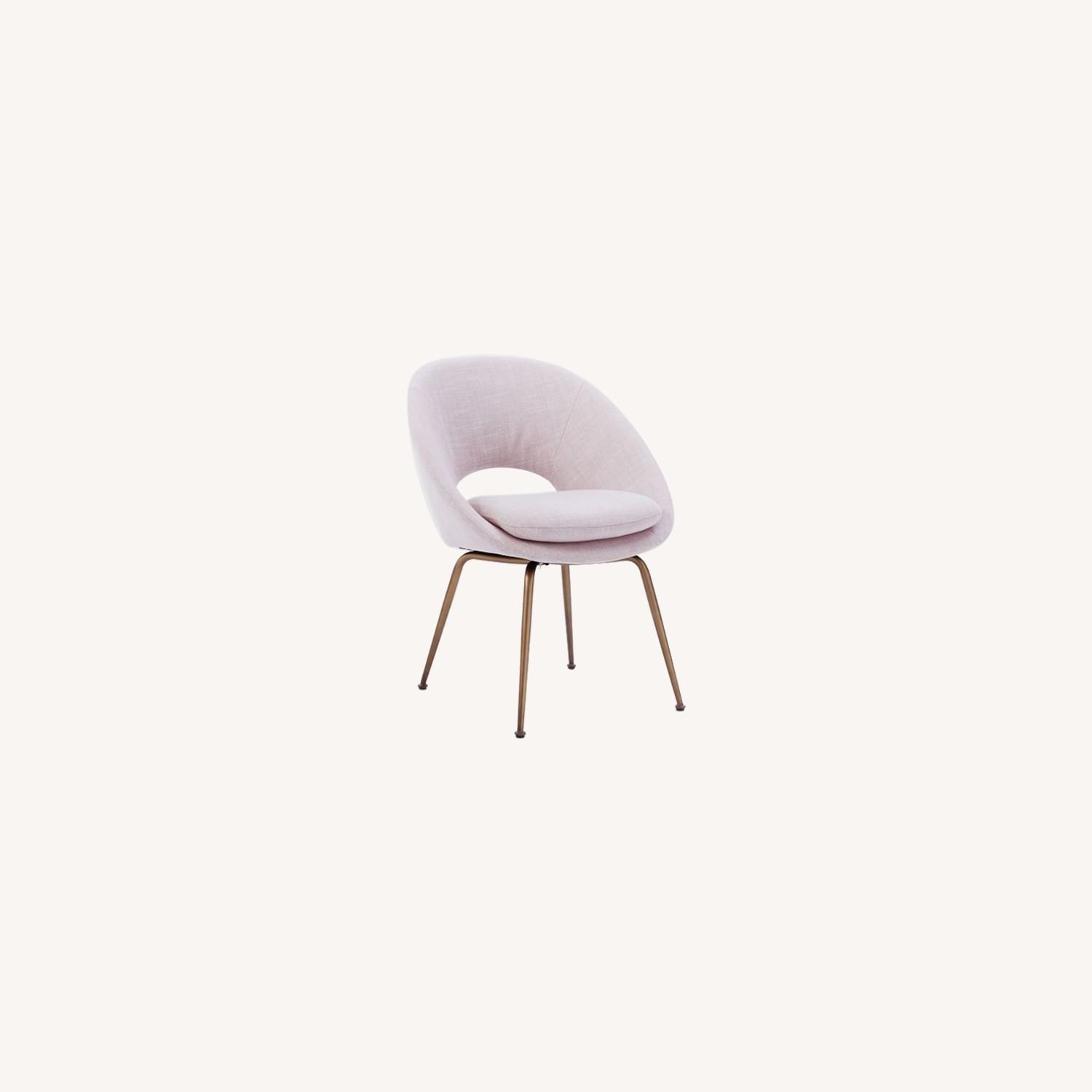 West Elm Orb Upholstered Dining Chair - image-0