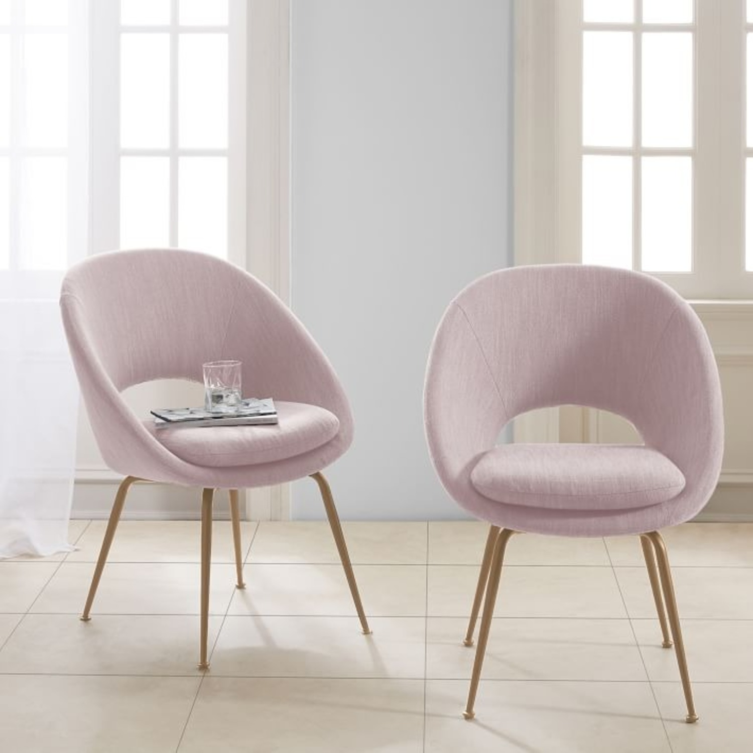 West Elm Orb Upholstered Dining Chair - image-2