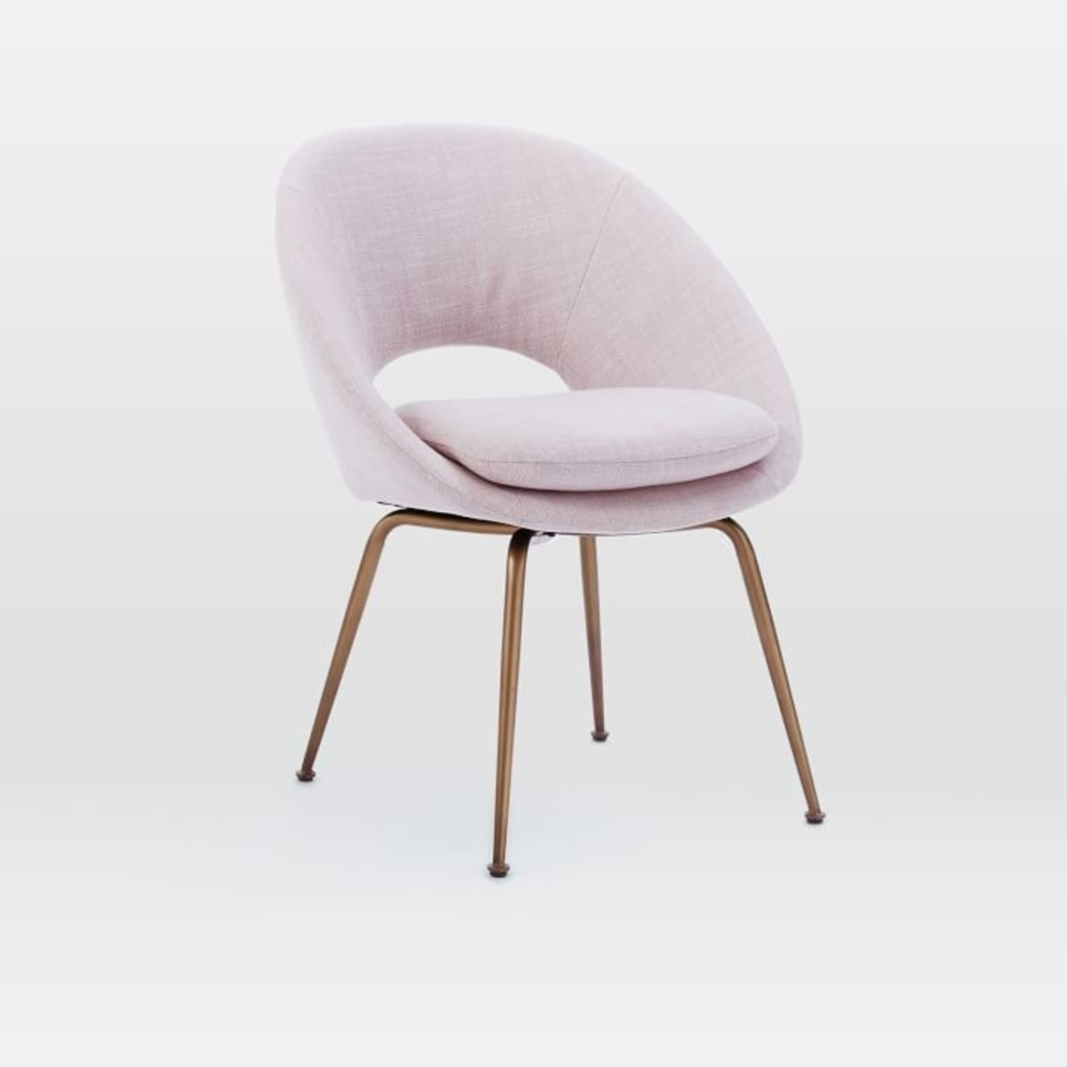 West Elm Orb Upholstered Dining Chair - image-1