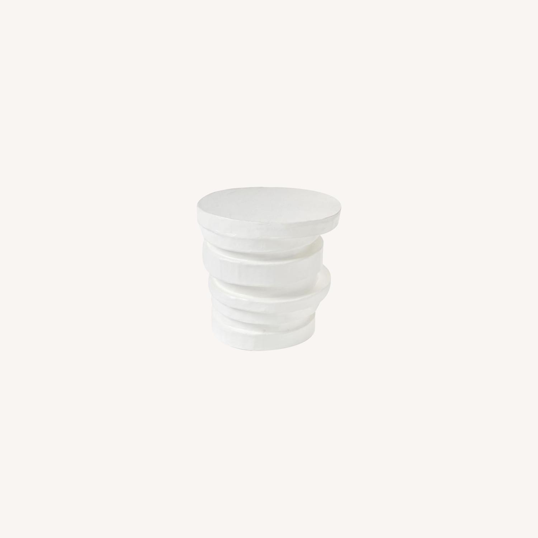 West Elm Papier-Mache Layered Drum Table - image-0