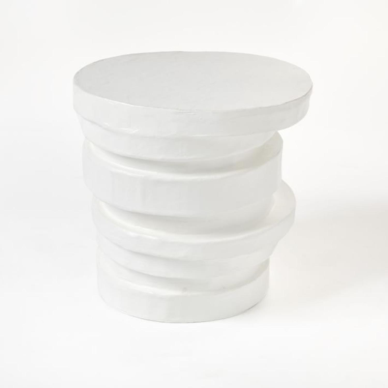 West Elm Papier-Mache Layered Drum Table - image-1