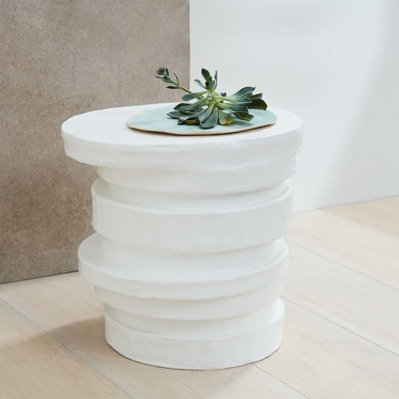 West Elm Papier-Mache Layered Drum Table - image-3