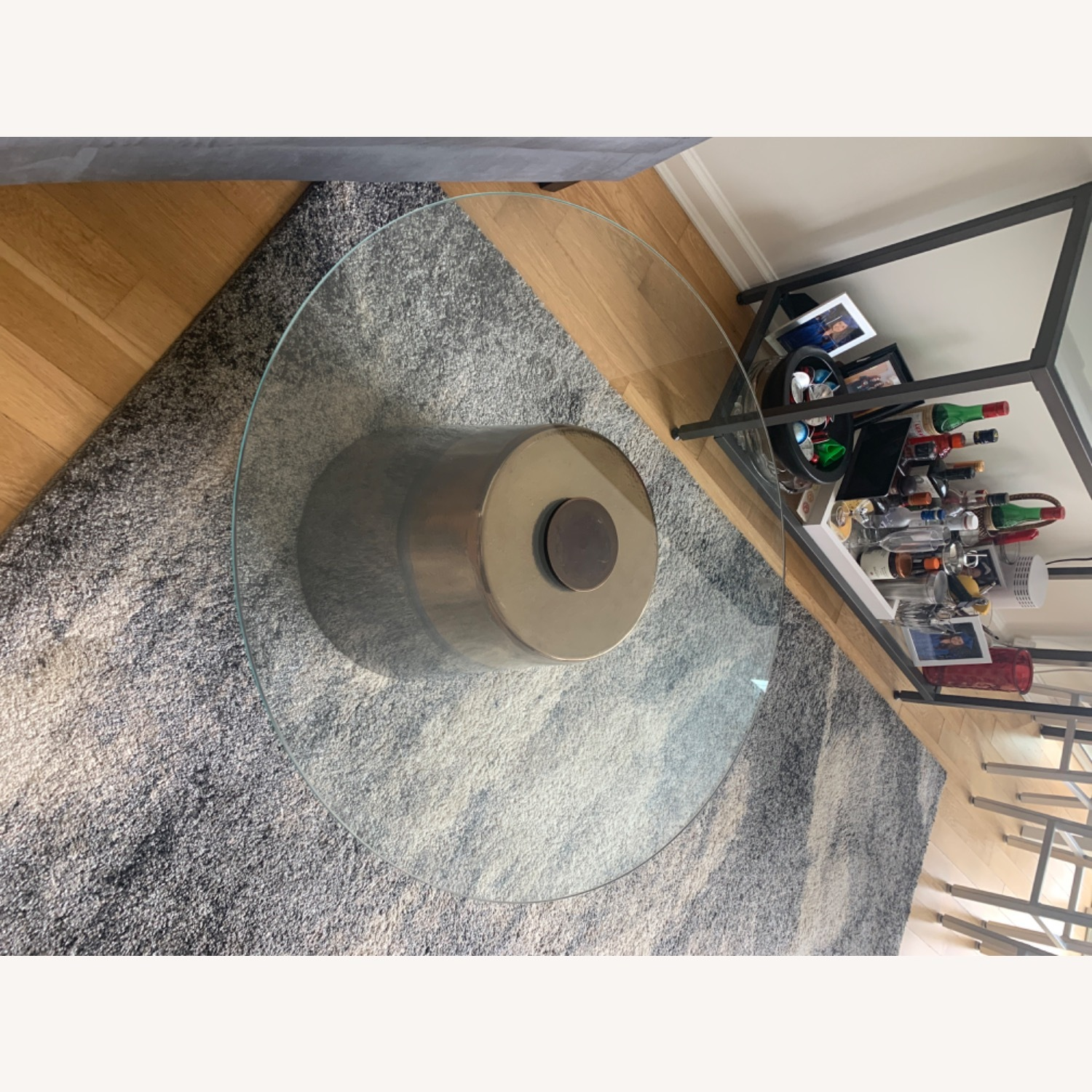 West Elm Glass Round coffee table - image-3