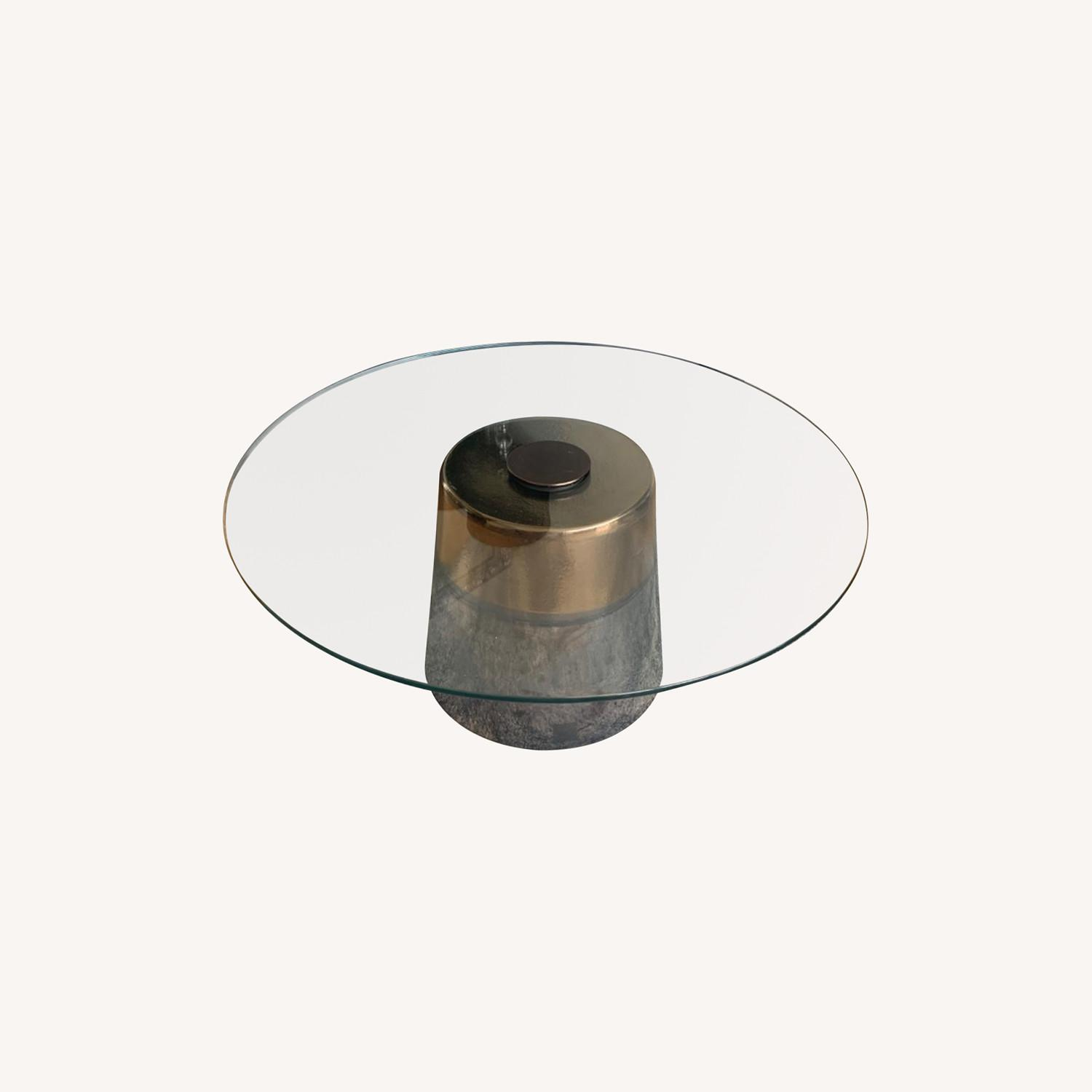 West Elm Glass Round coffee table - image-0