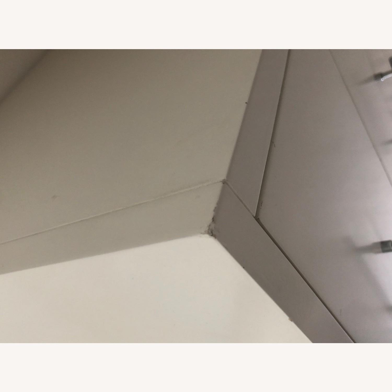 West Elm Modern Narrow Tall Dresser w Mirror White - image-8