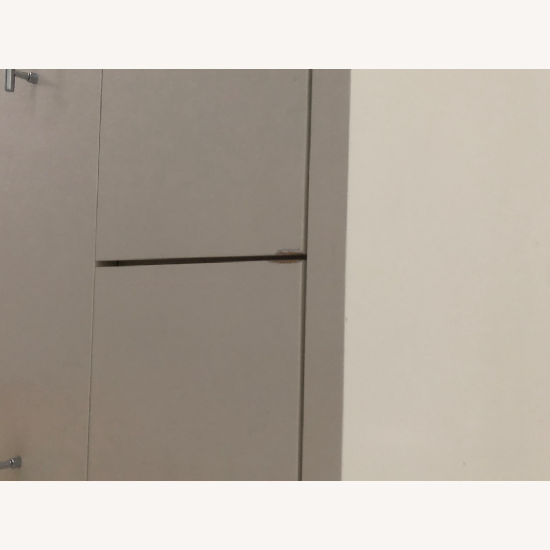 West Elm Modern Narrow Tall Dresser w Mirror White - image-5