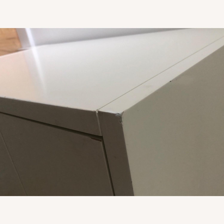 West Elm Modern Narrow Tall Dresser w Mirror White - image-7