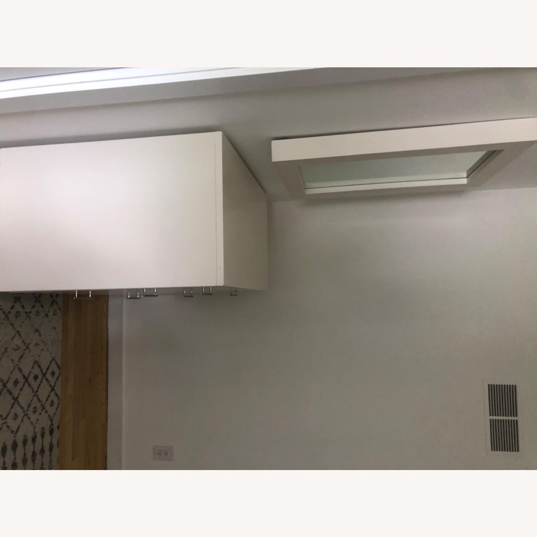 West Elm Modern Narrow Tall Dresser w Mirror White - image-1