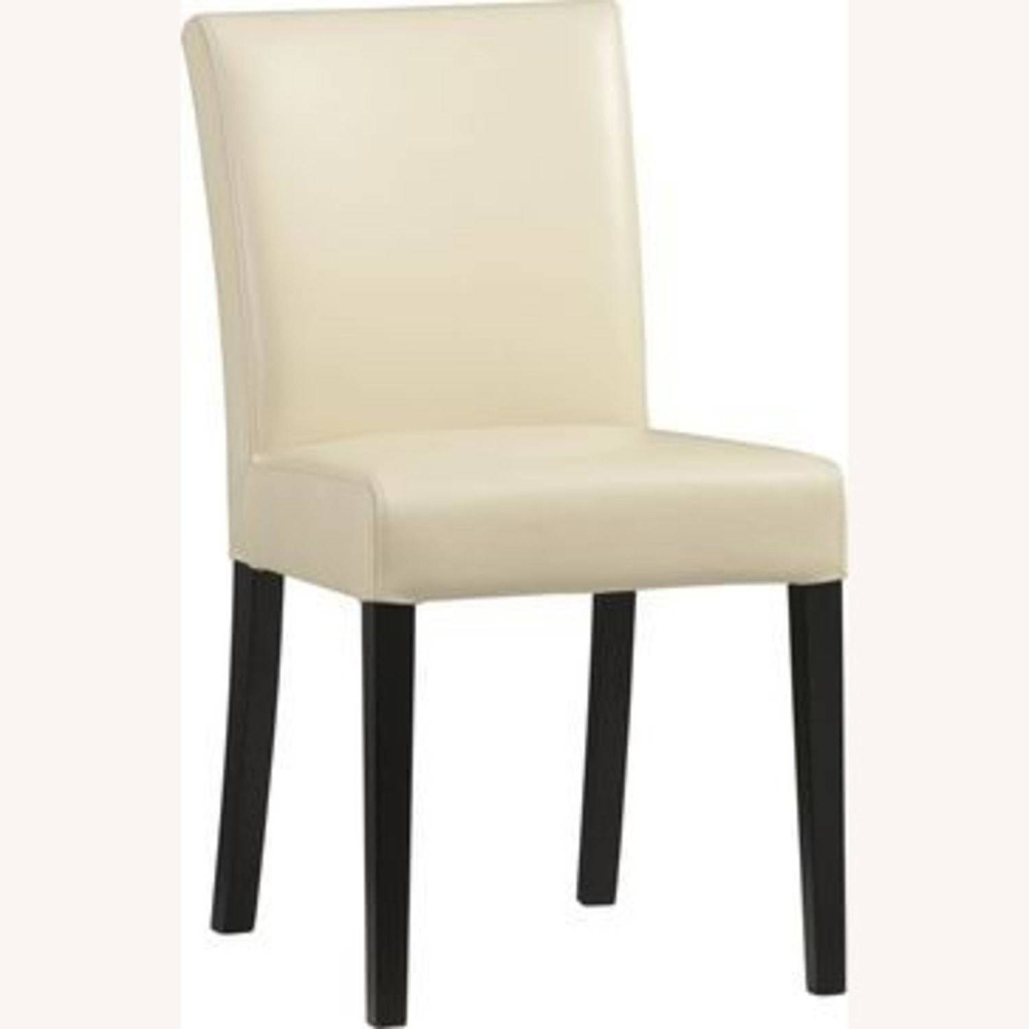 Crate & Barrel Lowe Ivory Leather Dining Chair - image-1