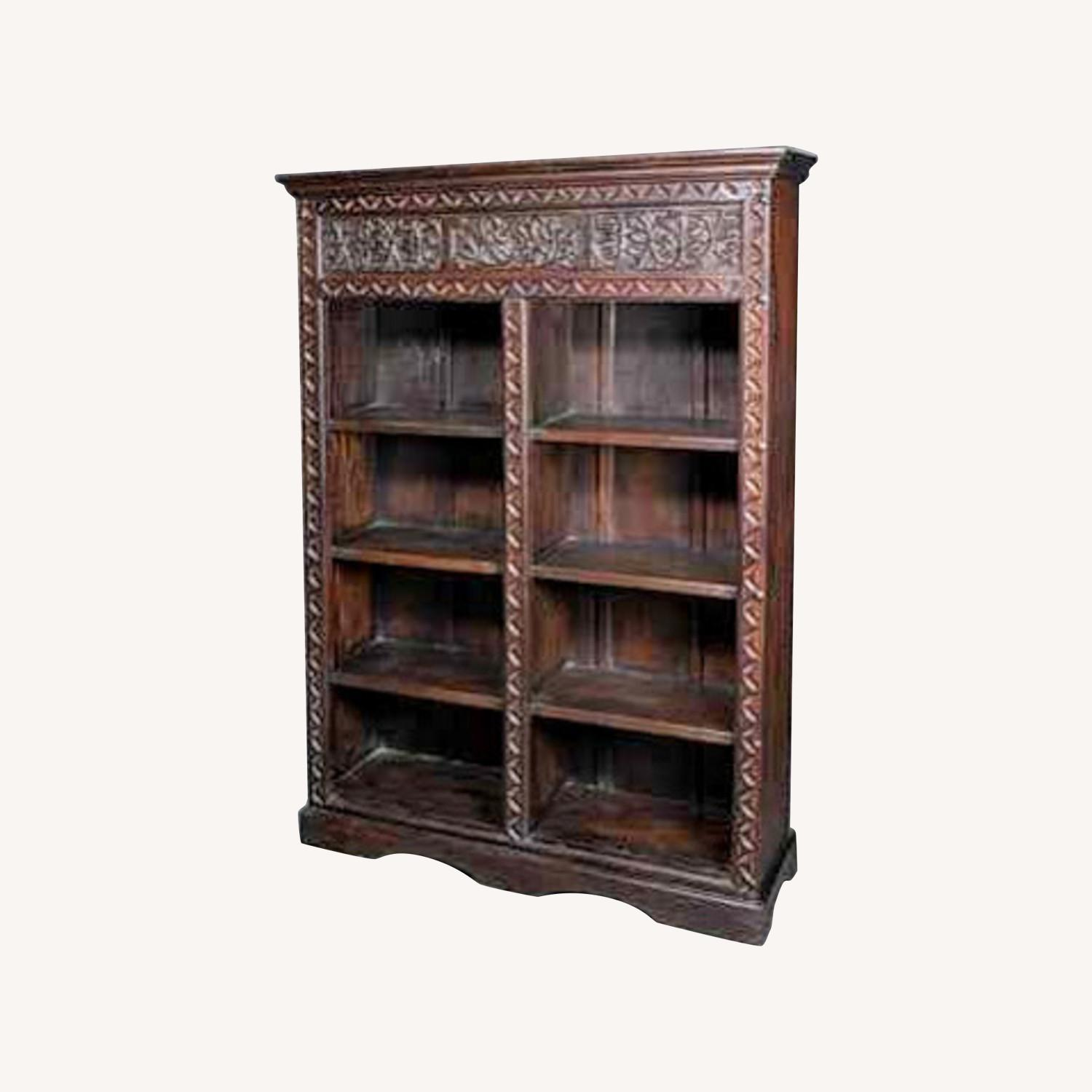 Exquisive Hand Cavred Bookcase - image-0