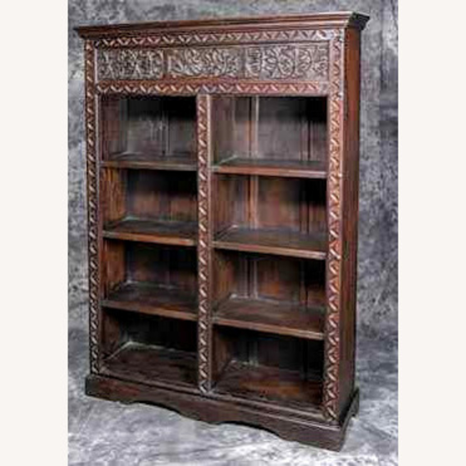 Exquisive Hand Cavred Bookcase - image-1