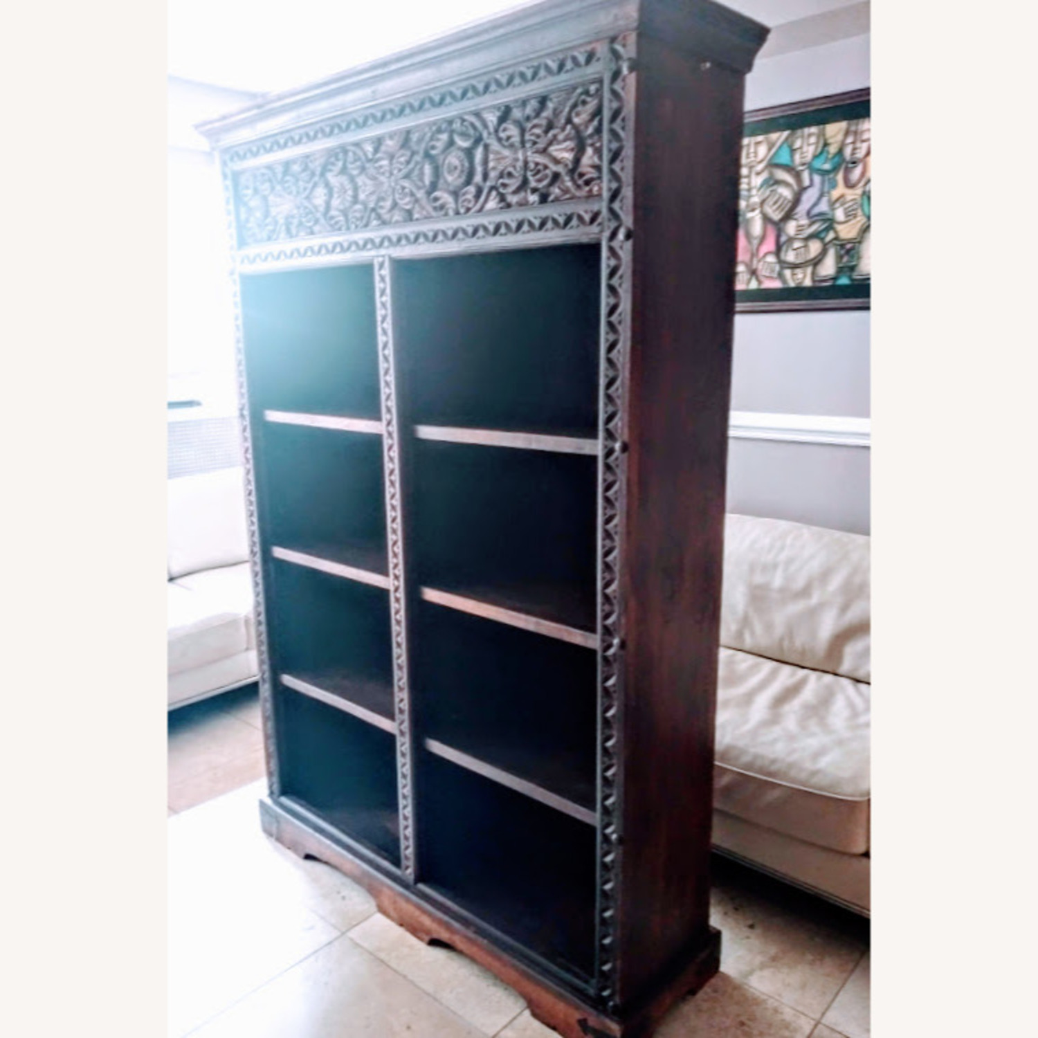 Exquisive Hand Cavred Bookcase - image-3