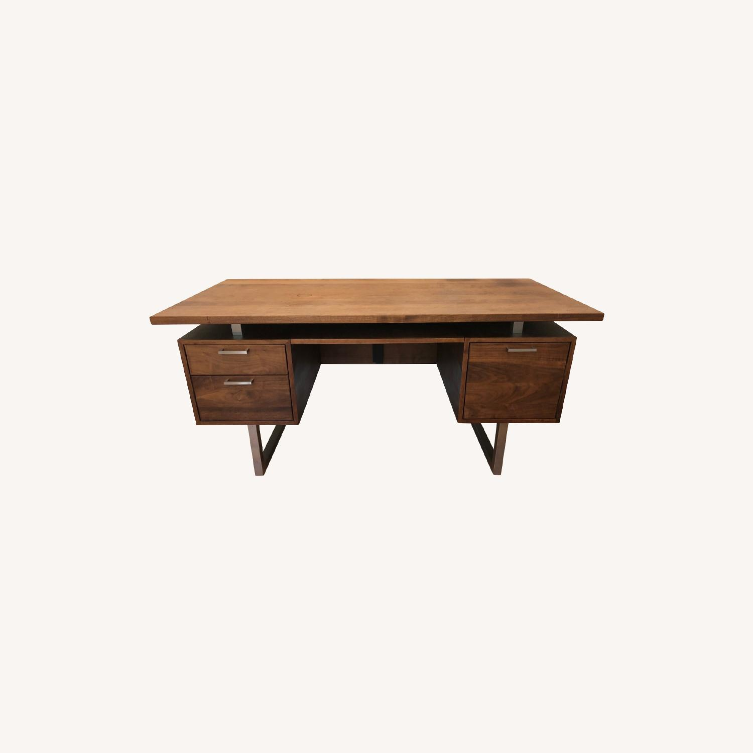 Crate & Barrel Clybourn Desk in Walnut - image-0