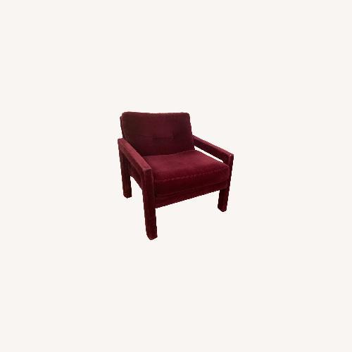 Used Burgundy Milo Baughman Parsons Chairs- a pair for sale on AptDeco