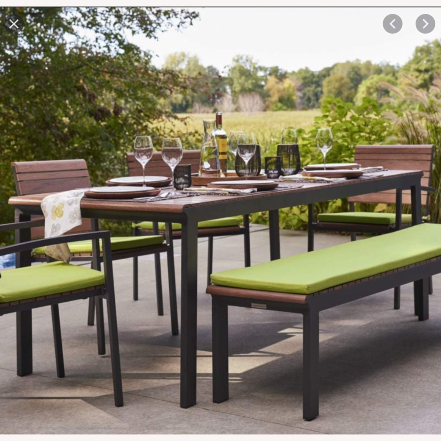 Crate & Barrel Outdoor Rocha Dining Table - image-1