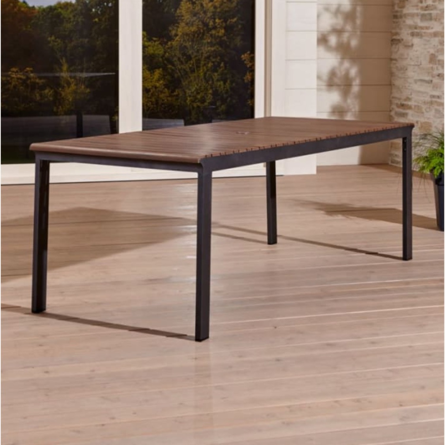 Crate & Barrel Outdoor Rocha Dining Table - image-0