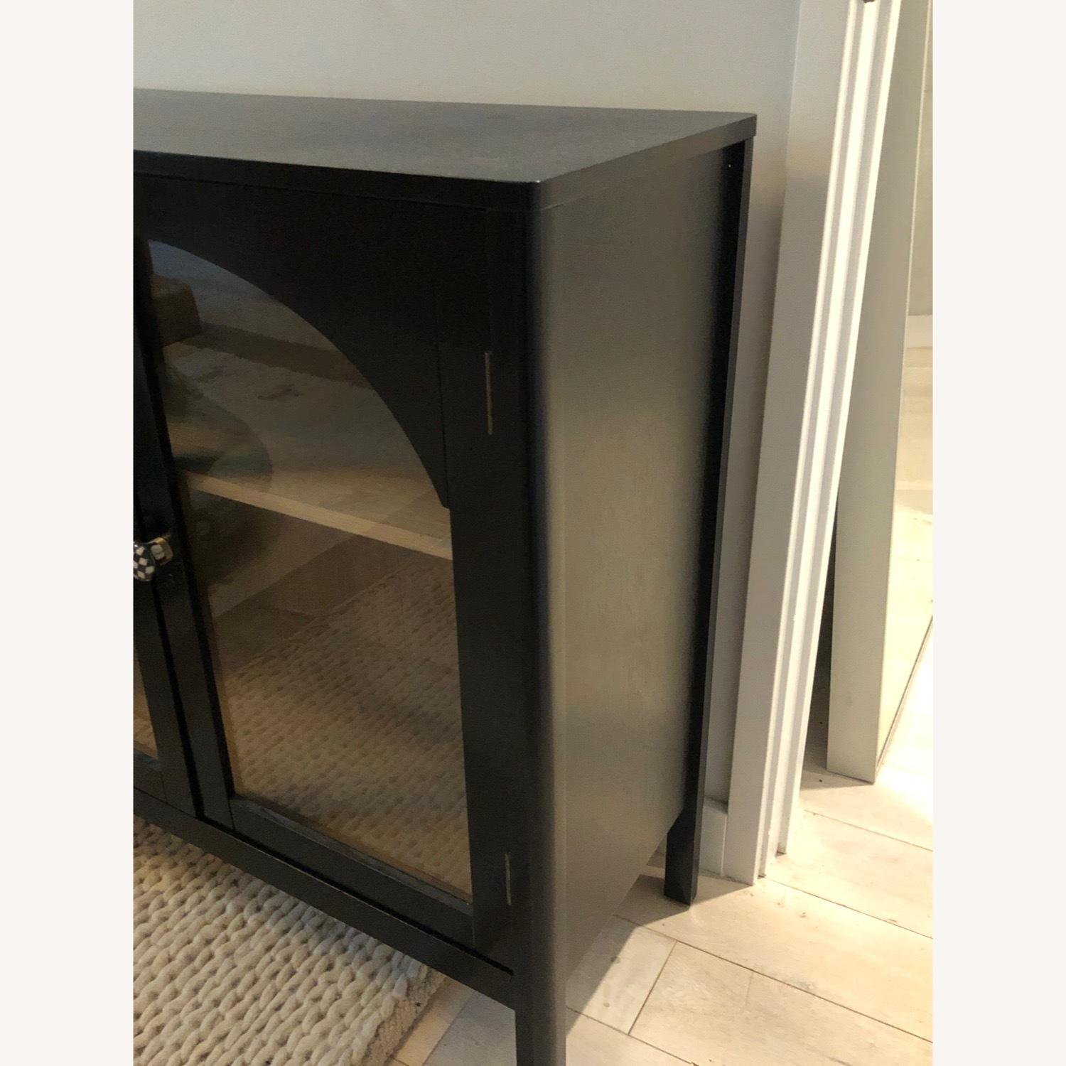 Target Arched Glass & Wood Cabinet w/ Custom Knobs - image-4