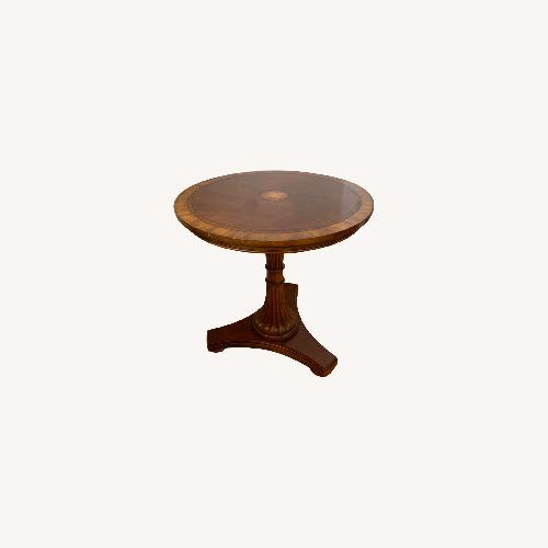 Used Ethan Allen Carved Pedestal Table for sale on AptDeco