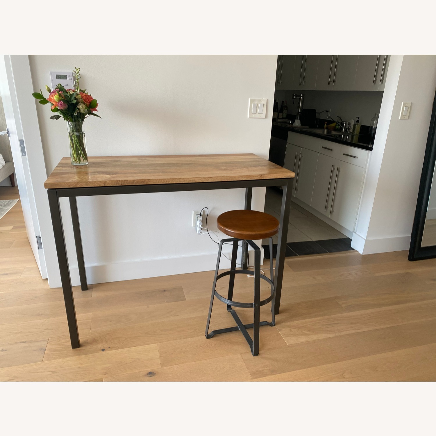 West Elm Box Frame Counter Table & Stool - image-1