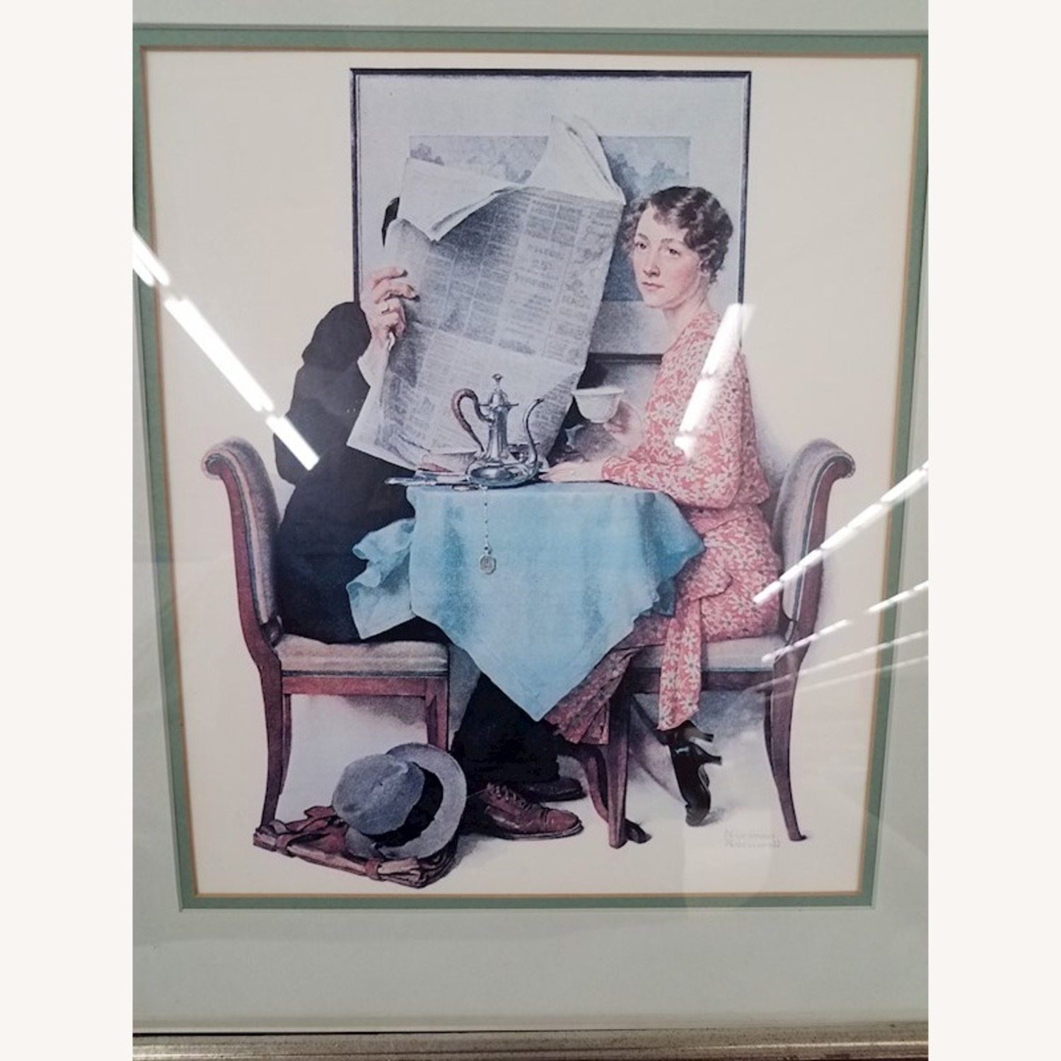 Norman Rockwell At the Breakfast Table Lithograph - image-1