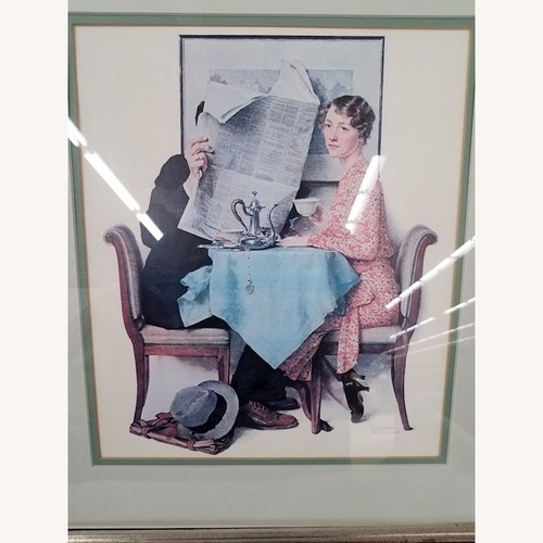 Used Norman Rockwell At the Breakfast Table Lithograph for sale on AptDeco