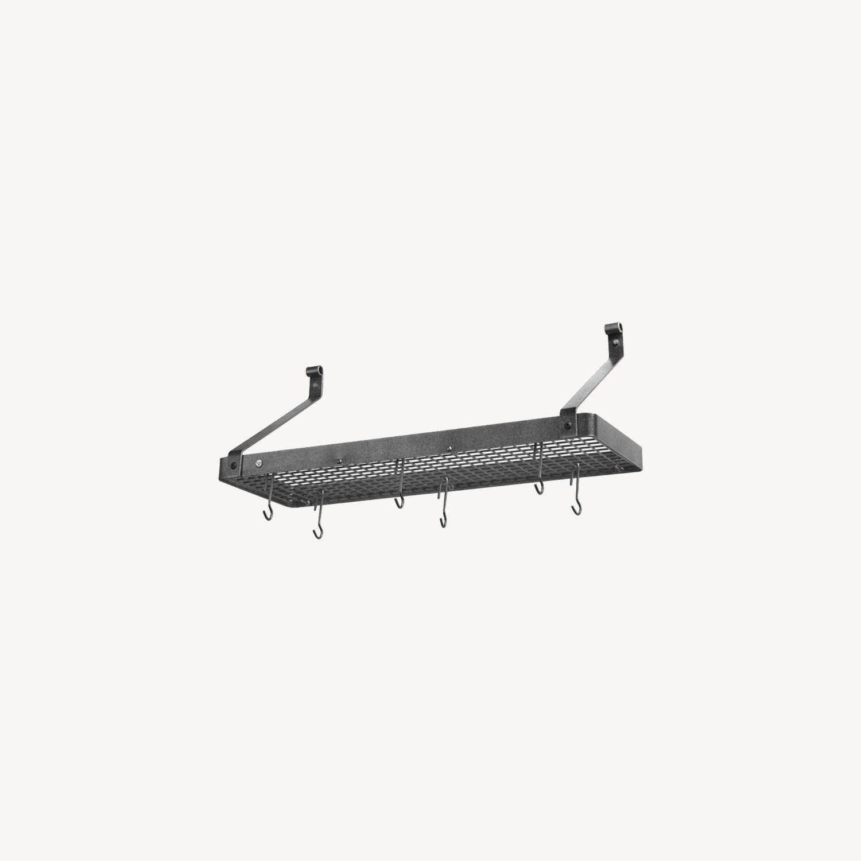 Williams Sonoma Steel Wall-Mounted Shelf Pot Rack - image-0