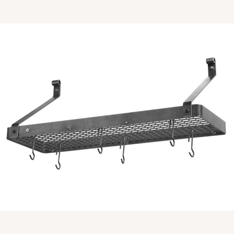 Williams Sonoma Steel Wall-Mounted Shelf Pot Rack - image-1
