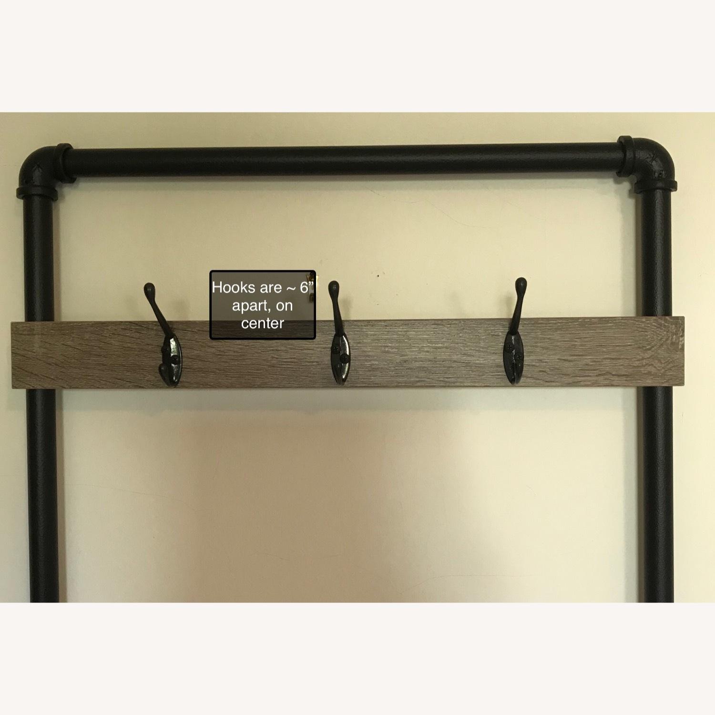 Industrial Bench w/ 3-Hooks + 1 Shoe/Storage Shelf - image-4