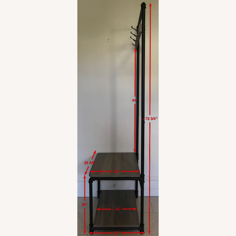 Industrial Bench w/ 3-Hooks + 1 Shoe/Storage Shelf - image-3