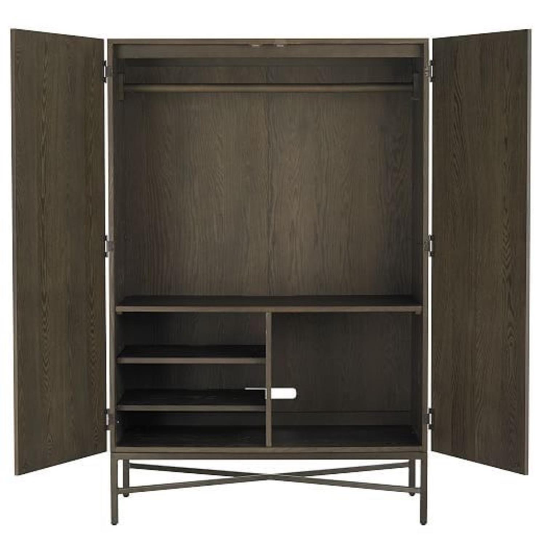 West Elm Paneled Armoire Dark Wood - image-3