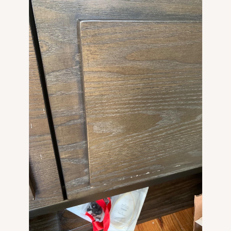 West Elm Paneled Armoire Dark Wood - image-5