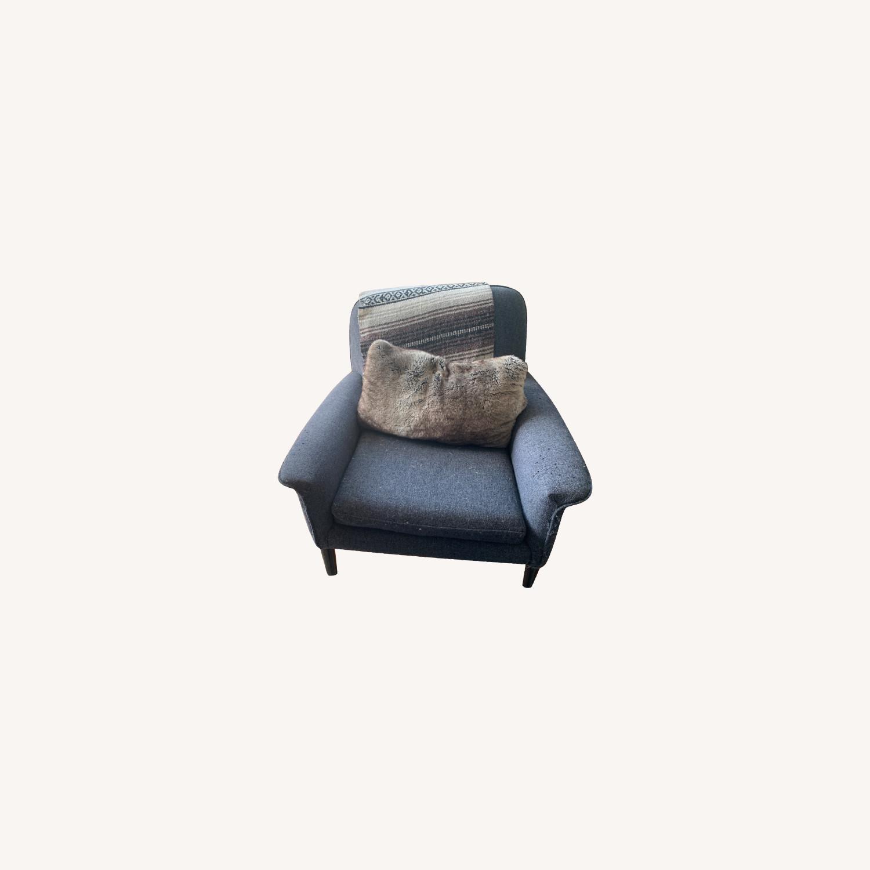 West Elm Anders Fabric Armchair - image-0