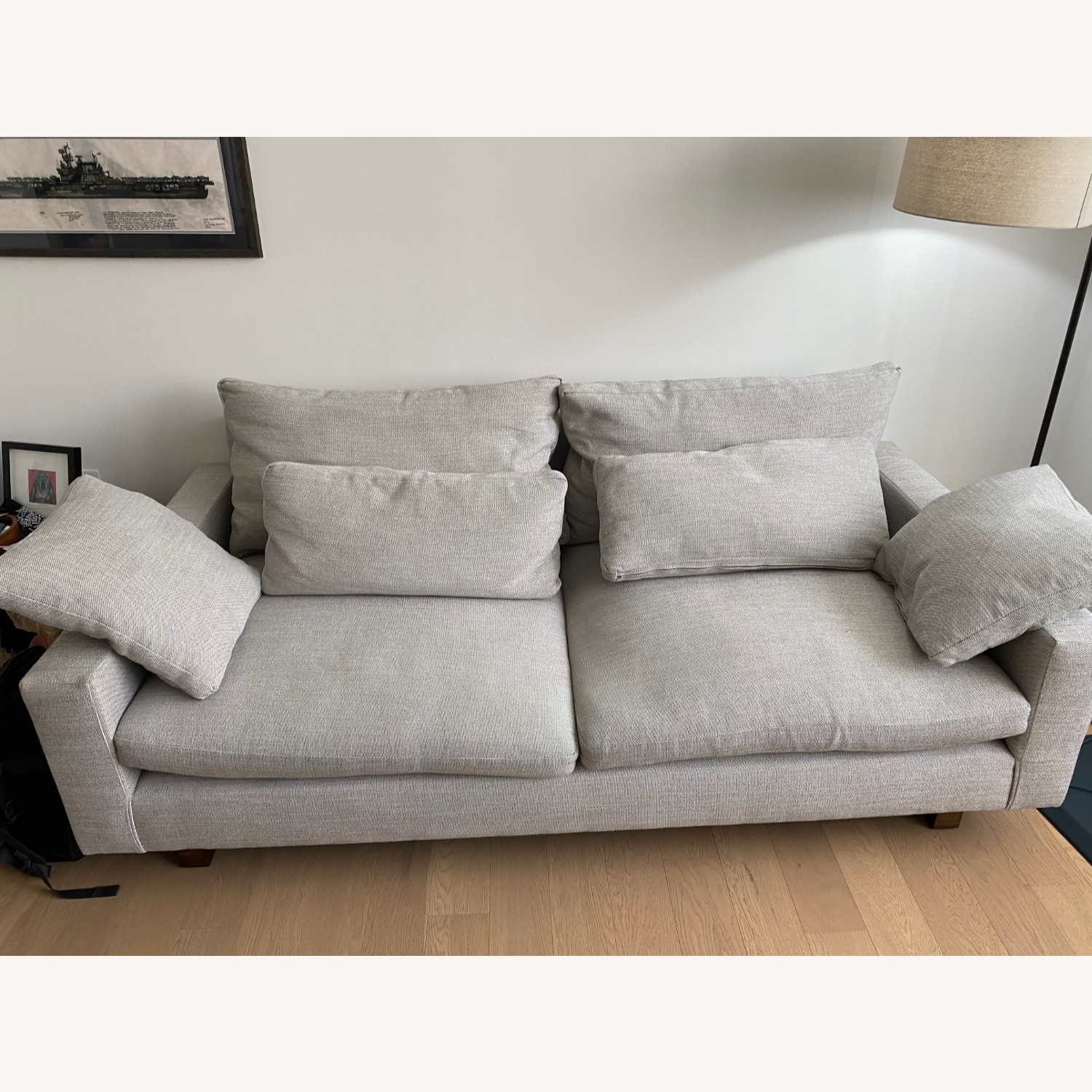 West Elm 2 Seat Couch - image-1