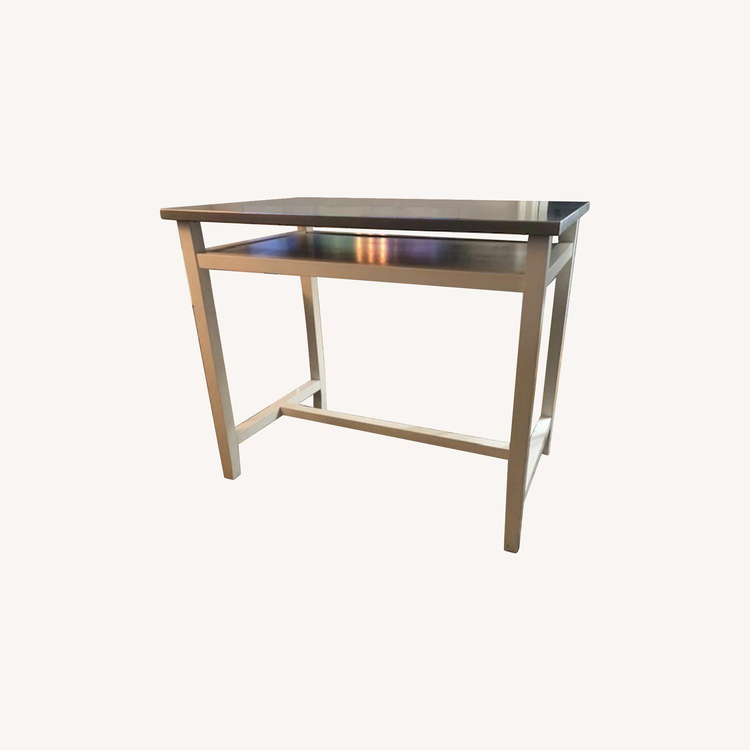Crate & Barrel Stainless Steel High Top Table - image-0