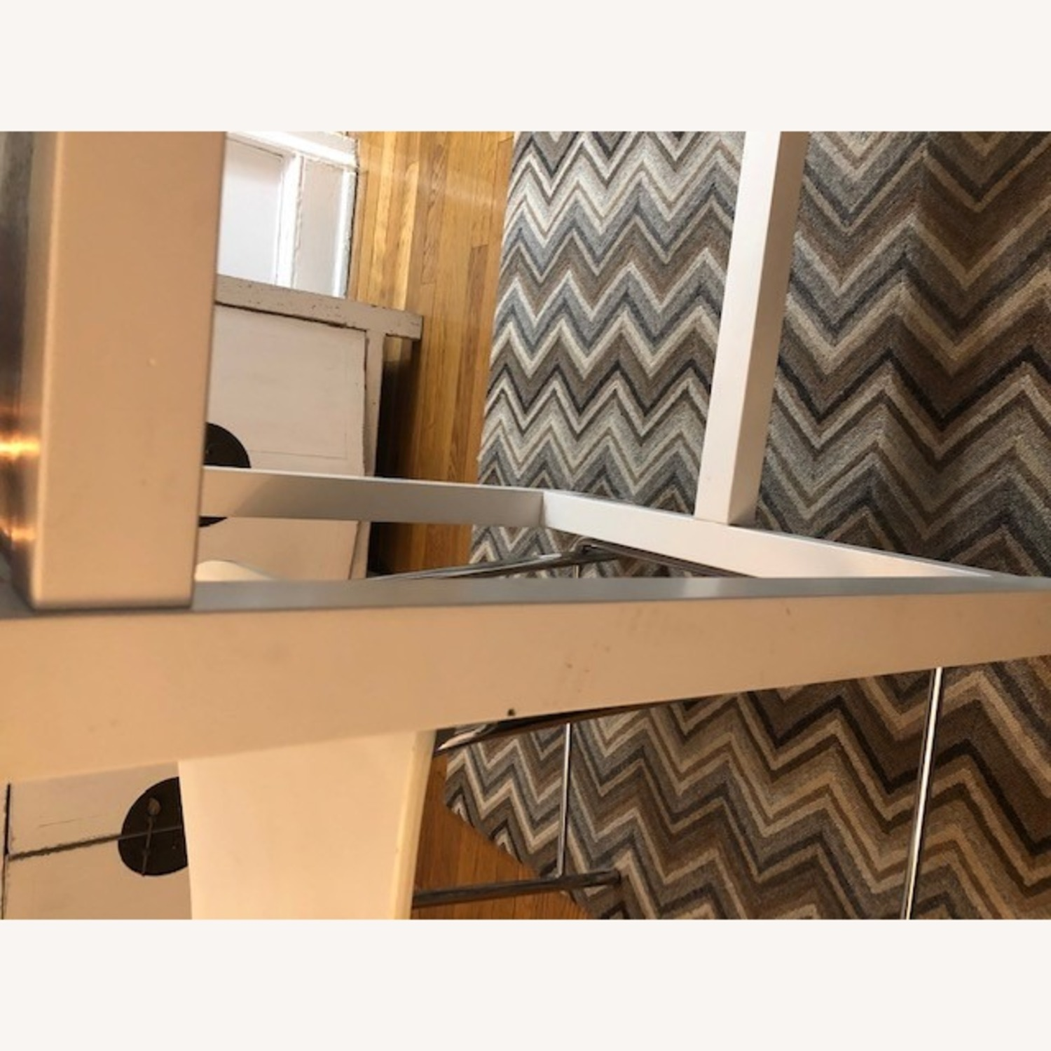 Crate & Barrel Stainless Steel High Top Table - image-5