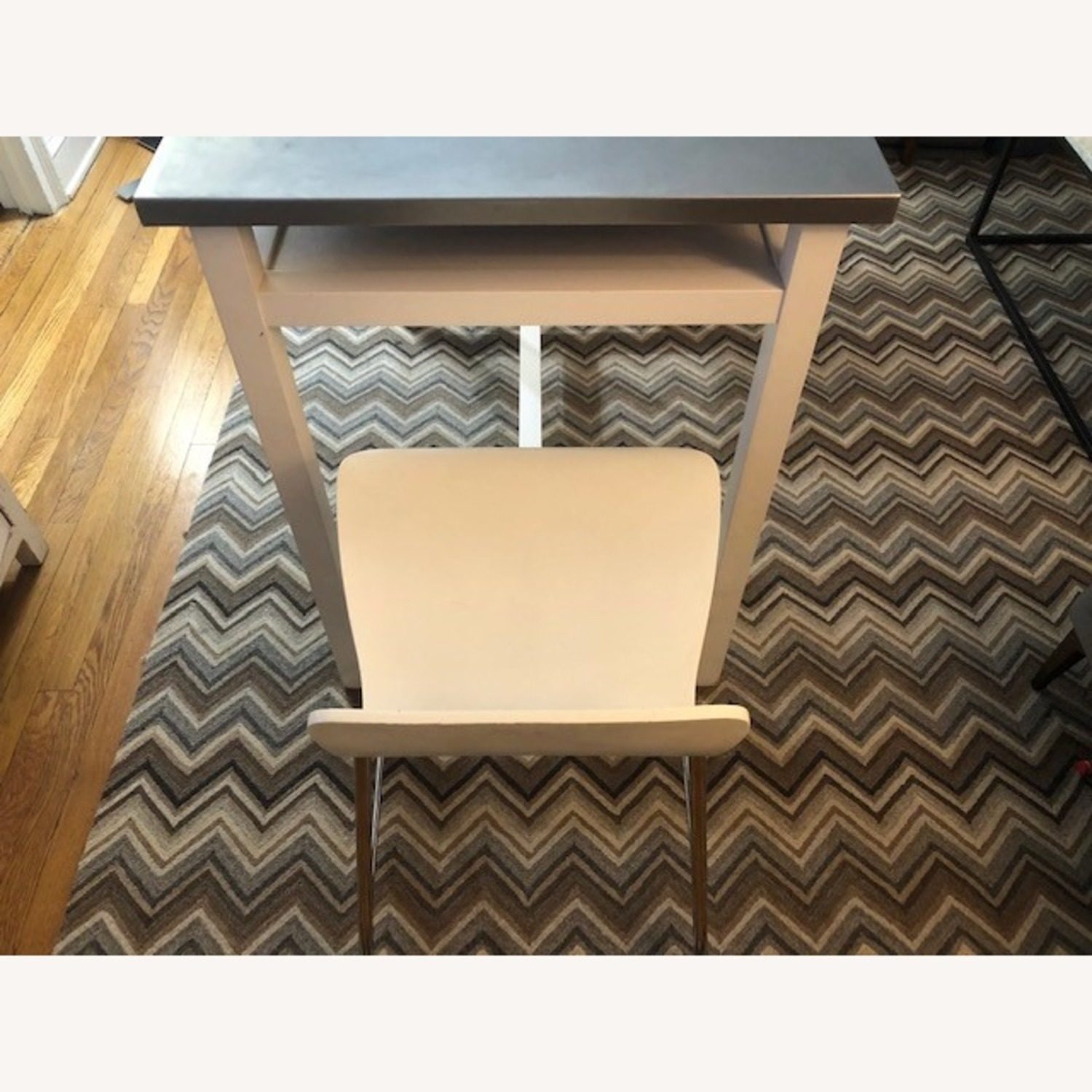 Crate & Barrel Stainless Steel High Top Table - image-7