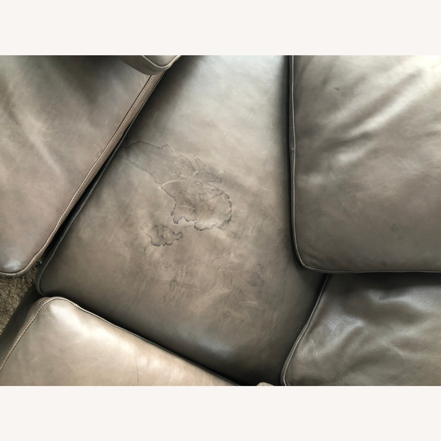 Restoration Hardware Leather Sectional Couch - image-5