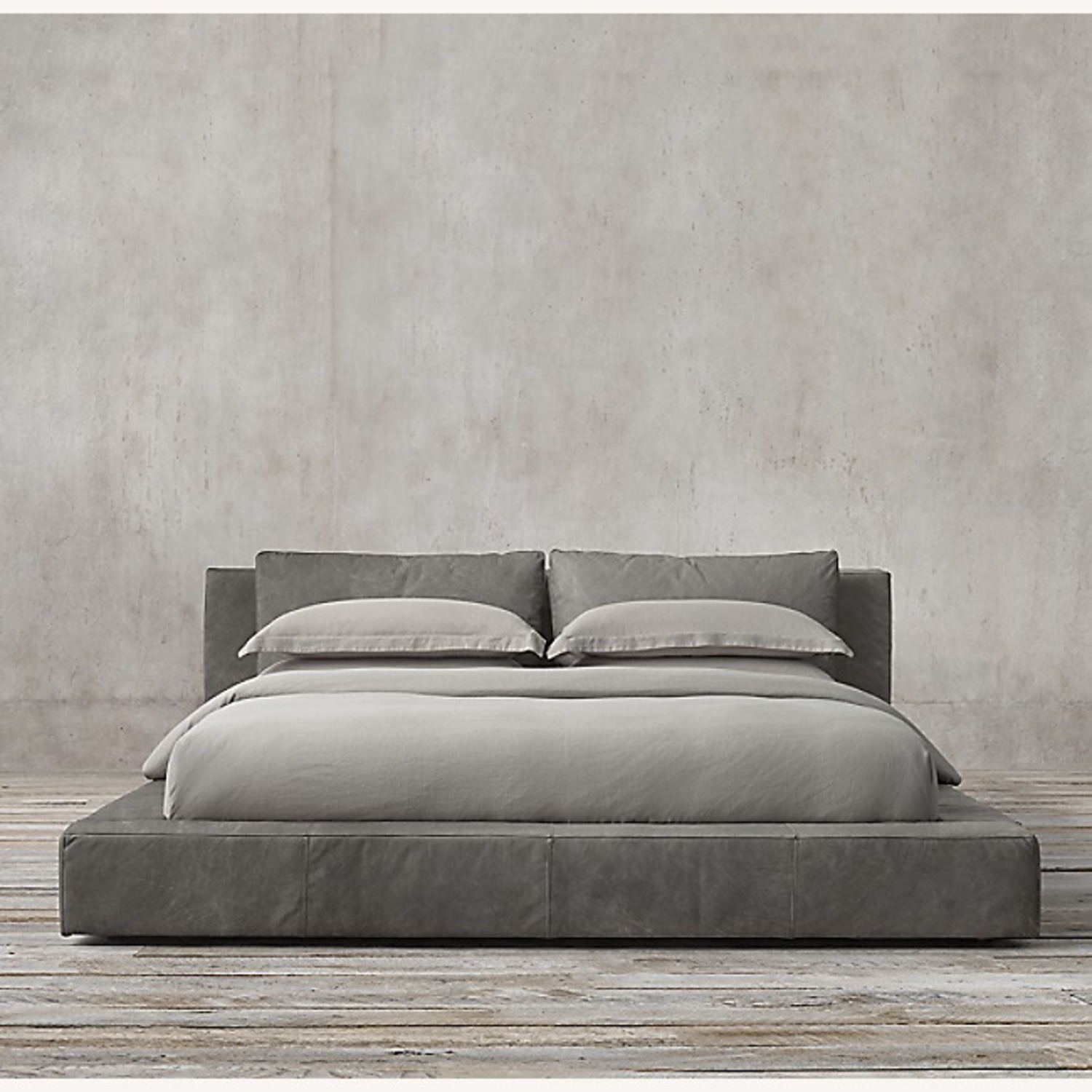 Restoration Hardware - Leather Platform Bed - image-9
