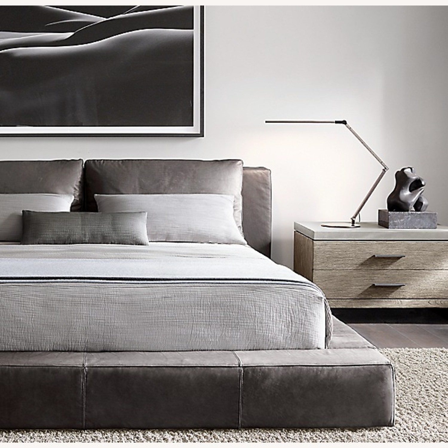 Restoration Hardware - Leather Platform Bed - image-10