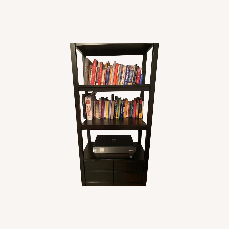 Crate & Barrel Spotlight Ebony Bookcase - image-0